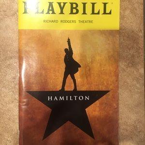 Hamilton Broadway Playbill